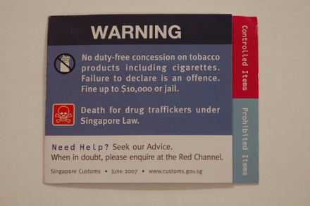 Drug sign