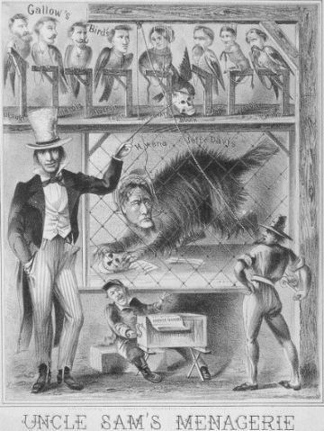 A cartoon depicting the defendants as Gallow's (sic) Birds.