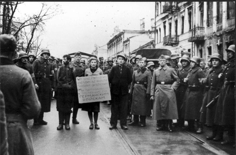 Hanged nazis women by