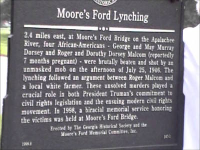 moores ford lynching essay The purpose of this march and rally is to demand the arrest and prosecution of the participants involved in the lynching at the moore's ford bridge in monroe, ga, walton county, that took place.
