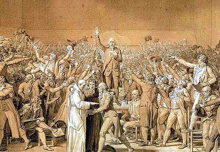 Third Estate makes Tennis Court Oath