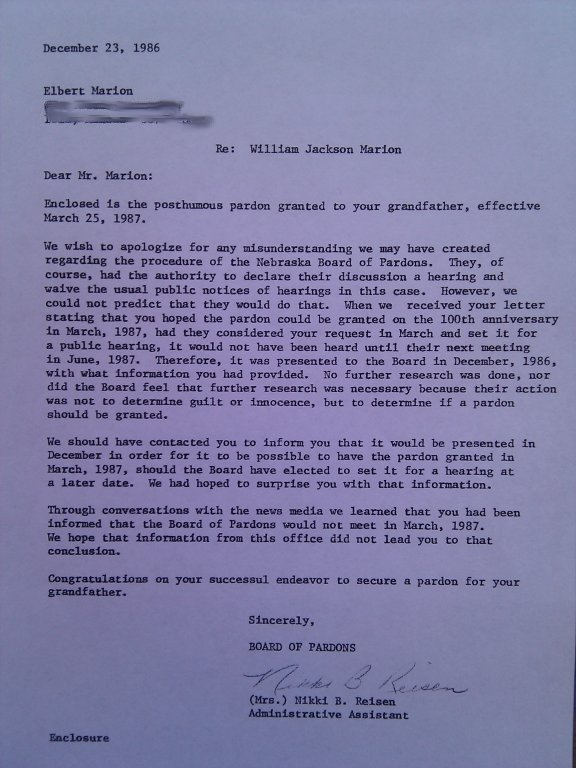 Sample Of Pardon Letter To Immigration Judge from www.executedtoday.com